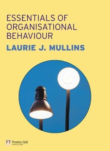 Essentials of Organisational Behaviour   2006 9780273707349 Front Cover
