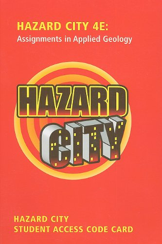 Student Access Code Card for Premium Website for Hazard City  4th 2011 edition cover