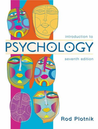 Introduction to Psychology  7th 2005 (Revised) 9780534589349 Front Cover