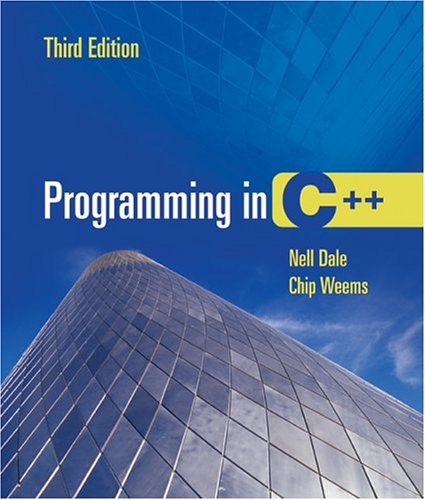 Programming in C++  3rd 2005 (Revised) edition cover