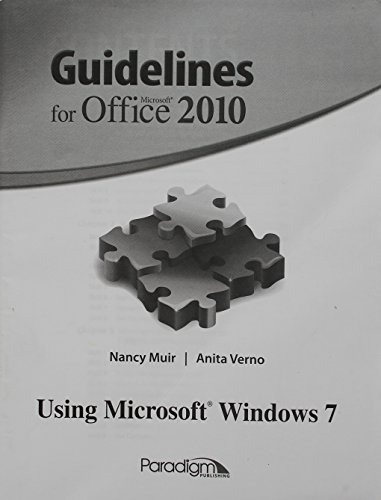 GUIDELINES F/MS OFFICE 2010-MODULE      N/A 9780763857349 Front Cover