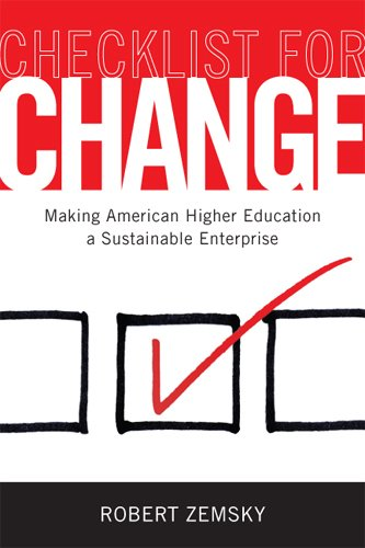 Checklist for Change Making American Higher Education a Sustainable Enterprise  2013 edition cover