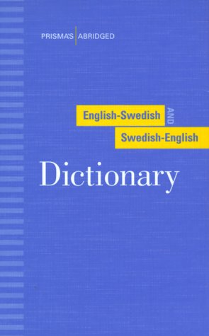 Prisma's Abridged English-Swedish and Swedish-English Dictionary   1995 (Abridged) edition cover