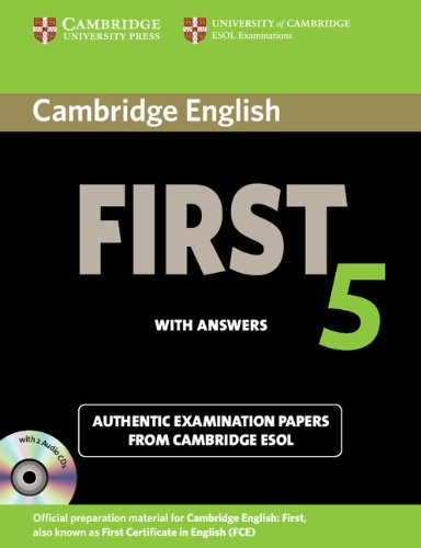 Cambridge English First 5 Self-Study Authentic Examination Papers from Cambridge ESOL  2012 (Student Manual, Study Guide, etc.) 9781107603349 Front Cover