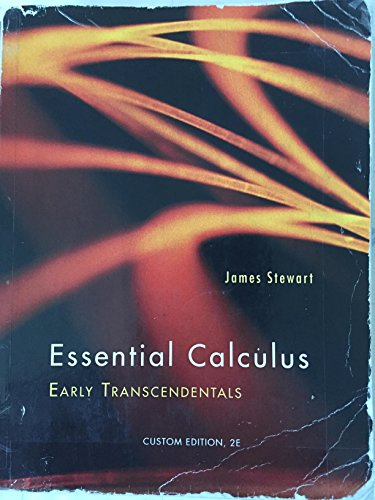 ESSENTIAL CALCULUS:EARLY TRANS.>CUSTOM< N/A 9781285107349 Front Cover