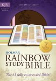 KJV Rainbow Study Bible, Pink/Brown LeatherTouch   2013 edition cover