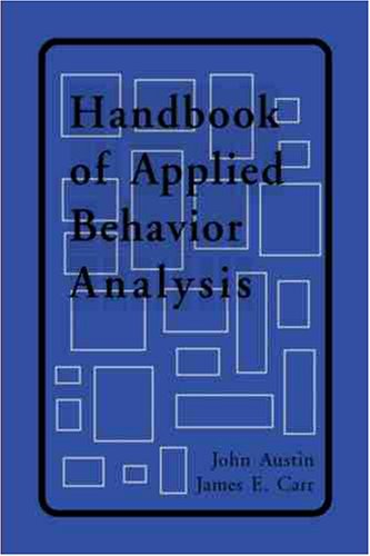 Handbook of Applied Behavior Analysis   2000 edition cover