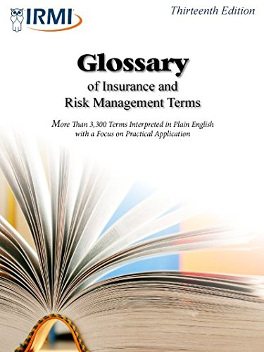 Glossary of Insurance and Risk Management Terms  12th 9781933686349 Front Cover