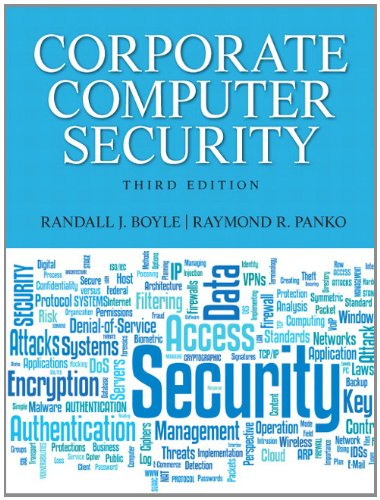 Corporate Computer Security  3rd 2013 (Revised) edition cover