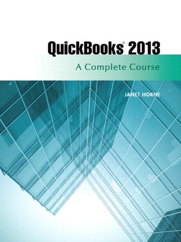 Quickbbooks 2013 A Complete Course 14th 2014 edition cover