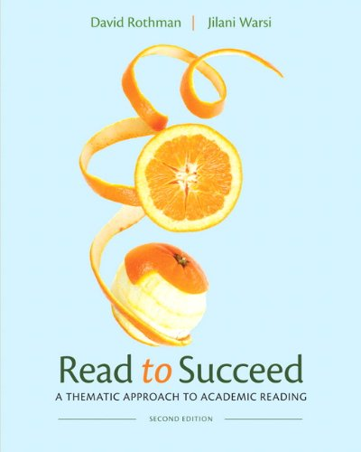 Read to Succeed A Thematic Approach to Academic Reading 2nd 2013 (Revised) edition cover
