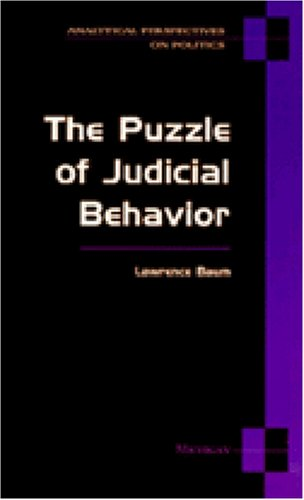 Puzzle of Judicial Behavior  N/A edition cover