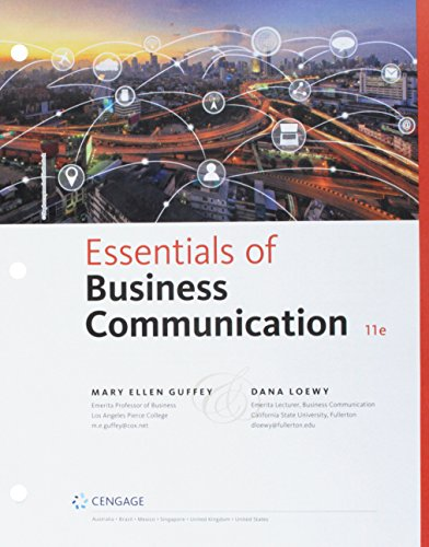 Essentials of Business Communication + Mindtap Business Communication, 1-term, 6 Month Printed Access Card:   2018 9781337736350 Front Cover