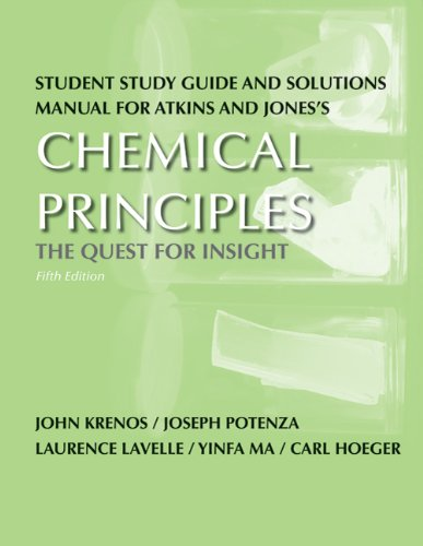 Chemical Principles The Quest for  Insight 5th 2010 (Revised) edition cover