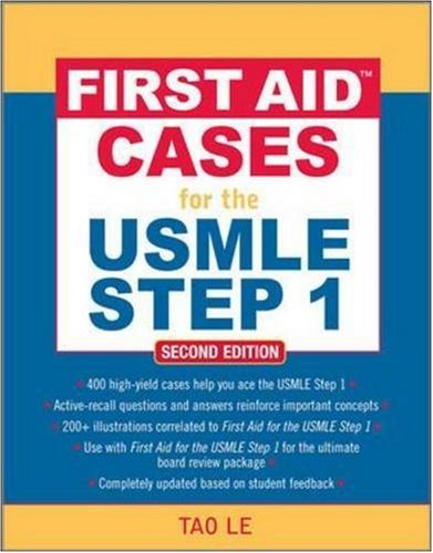 First Aid Cases for the USMLE Step 1  2nd 2009 edition cover