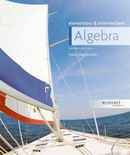 Elementary and Intermediate Algebra  4th 2012 edition cover