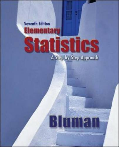 Elementary Statistics A Step by Step Approach 7th 2009 edition cover