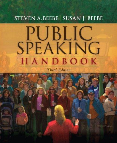 Public Speaking Handbook  3rd 2010 edition cover