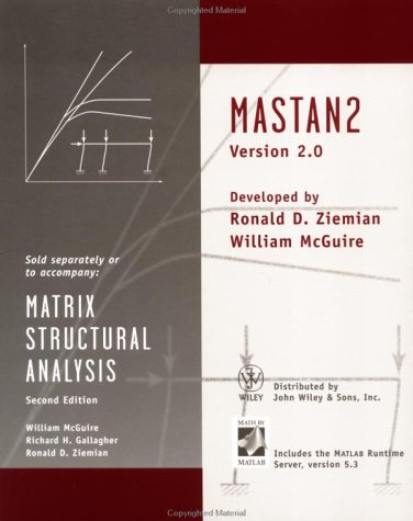Matrix Structural Analysis, MATSTAN 2 Version 2. 0  2nd 2000 9780471447351 Front Cover