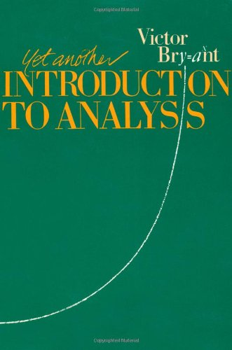 Yet Another Introduction to Analysis   1990 edition cover