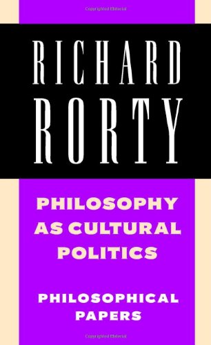 Philosophy as Cultural Politics Philosophical Papers  2007 edition cover