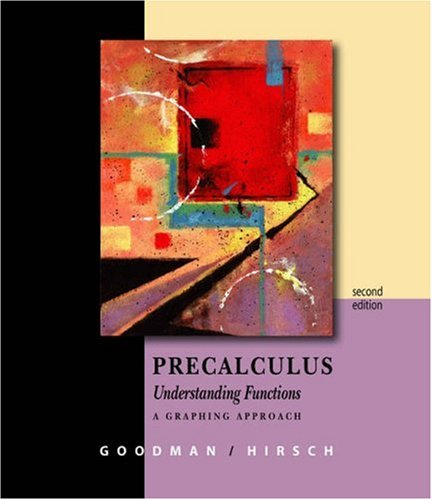 Precalculus - Understanding Functions A Graphing Approach 2nd 2004 (Revised) edition cover