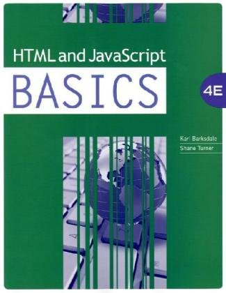 HTML and JavaScript BASICS  4th 2011 edition cover