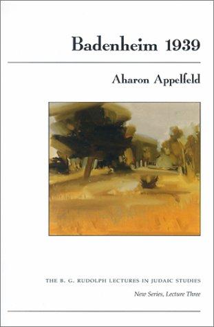 Badenheim 1939   2001 edition cover