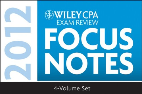 Wiley CPA Exam Review - Focus Notes 2012  7th 2012 9781118121351 Front Cover