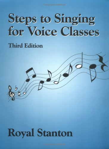 Steps to Singing for Voice Classes  3rd edition cover
