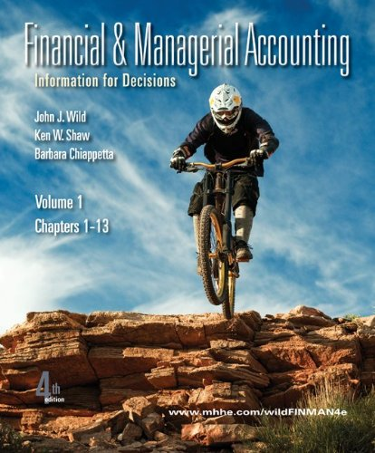 Financial and Managerial Accounting Information for Decisions 4th 2011 edition cover