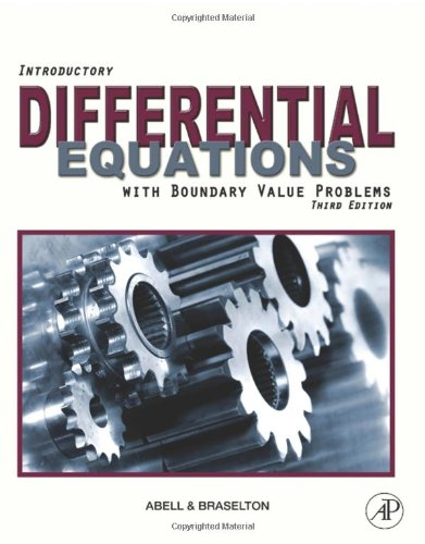 Introductory Differential Equations With Boundary Value Problems 3rd edition cover