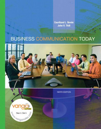 MyBCommLab with Pearson Etext - For Business Communication Today  9th 2008 edition cover