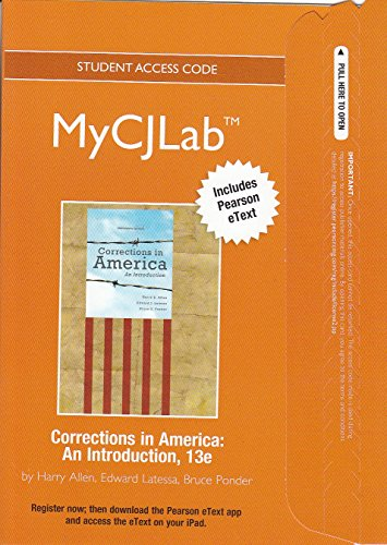 Corrections in America An Introduction 13th 2013 9780132860352 Front Cover