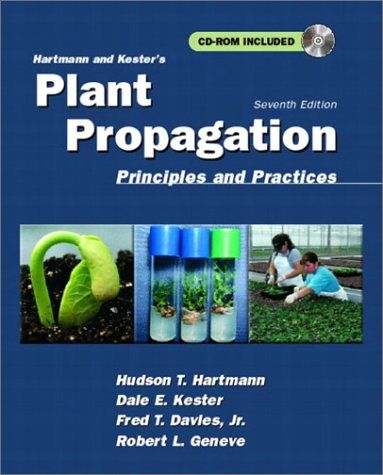 Hartmann and Kester's Plant Propagation Principles and Practices 7th 2002 (Revised) edition cover