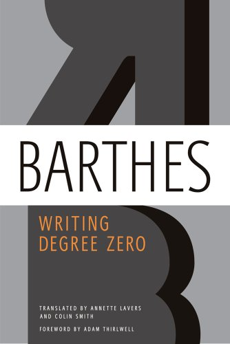 Writing Degree Zero   2012 9780374532352 Front Cover