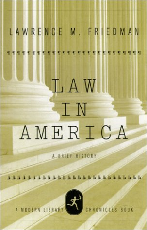Law in America A Short History  2002 edition cover