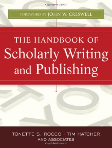 Handbook of Scholarly Writing and Publishing   2011 edition cover