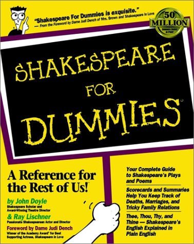 Shakespeare for Dummies   1999 edition cover