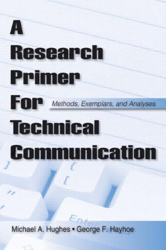 Research Primer for Technical Communication Methods, Exemplars, and Analyses  2008 edition cover
