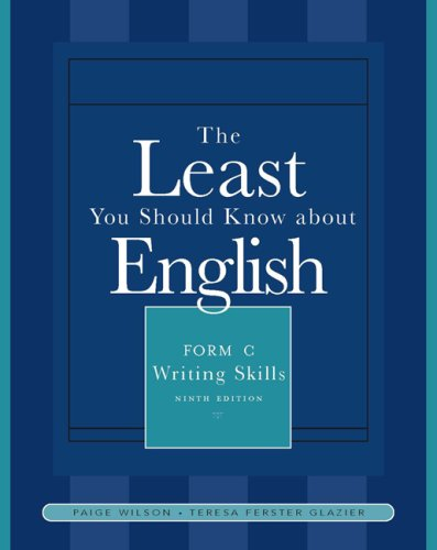 Least You Should Know about English  9th 2008 (Revised) 9781413029352 Front Cover