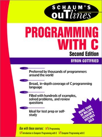 Programming with C  2nd 1996 (Revised) edition cover