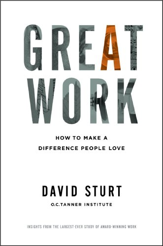 Great Work How to Make a Difference People Love  2014 edition cover