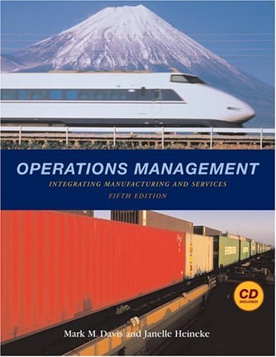 Operations Management Integrating Manufacturing and Services 5th 2005 9780072994353 Front Cover