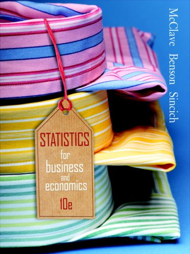 Statistics for Business and Economics  10th 2008 edition cover