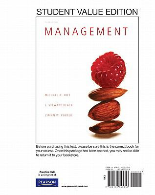 Management, Student Value Edition  3rd 2012 edition cover