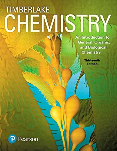 Cover art for Chemistry: An Introduction to General, Organic, and Biological Chemistry, 13th Edition