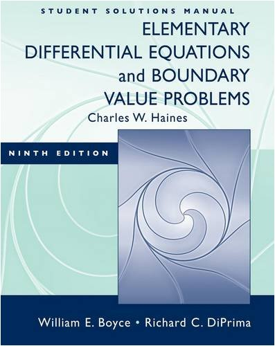 Elementary Differential Equations and Boundary Value Problems  9th 2009 edition cover