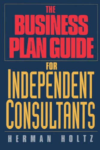 Business Plan Guide for Independent Consultants   1994 edition cover