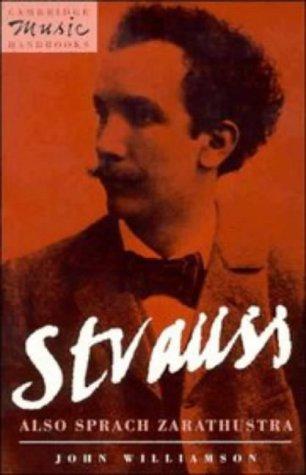 Strauss Also Sprach Zarathustra  1993 9780521409353 Front Cover